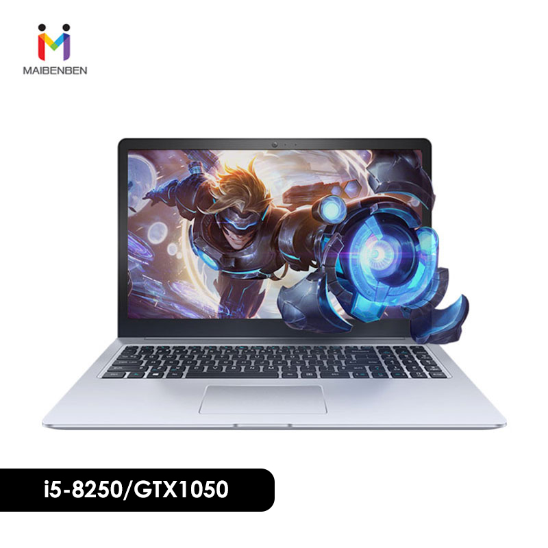 MAIBENBEN GTX1050 Gamer Netbook 240G/NVIDIA Office DAMAI 6S 4G DOS Dos/win10 I5-8250u/8g
