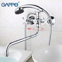 Precio Grifo de bañera gappo Grifo de ducha de baño bronce banheiro, grifo de pared, mezclador de latón para bañera, mezclador de agua, ducha de mano GA2243