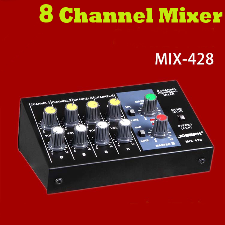 Cheap Professional 8 Channel mini mixer audio For Stage Home Karaoke sound Mobile phone computer reverb mixer mixing console