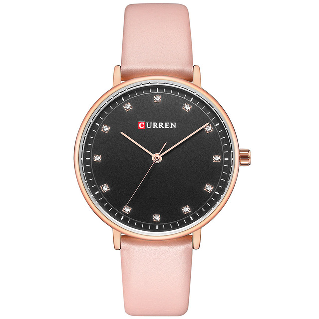 CURREN Fashion Womens Simple Diamond Elegant Ladies Wrist Watch  2