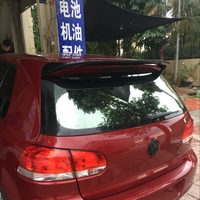 For Volkswagen VW Golf 6 2010 2011 2012 2013 Hot ABS Plastic Rear Trunk Roof Wing Unpainted Primer Rear Spoiler Car Accessories