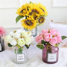 2019 Fashion Mini Glass Flower Vases 4 Colors Creative Green Plant Pot European Nordic Tabletop Gifts