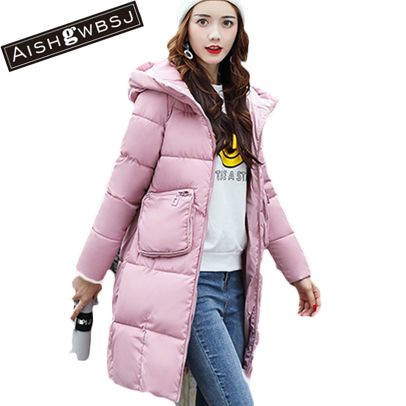 AISHGWBSJ Winter Long Coats Women Hooded Padded-Cotton Parkas Female Thicker 2017 New Winter Cotton Warm Overwear Jackets PL127 aishgwbsj winter long coats women hooded padded cotton parkas female thicker 2017 new winter cotton warm overwear jackets pl127