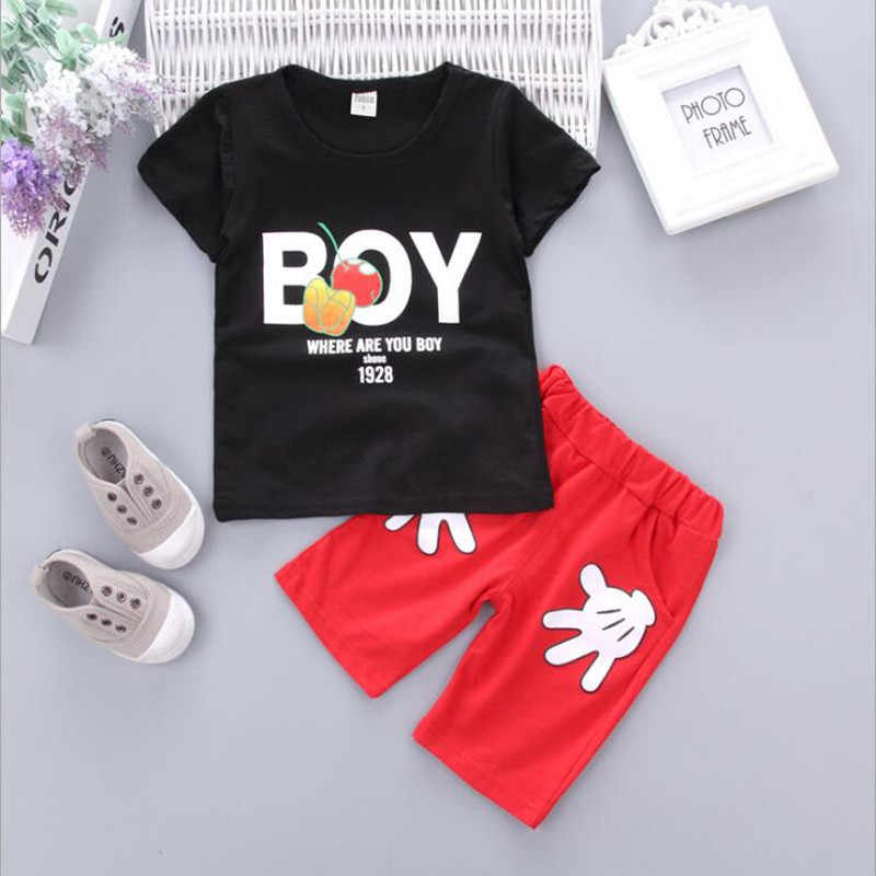 d71bc943b Boutique Kids clothes Summer Baby Boy Clothes Mickey toddler Boys clothing  Sets 2017 New Children Cotton