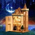 Miniaturas de Bonecas De Madeira em miniatura Casa de Bonecas artesanais Diy Móveis Casa de Boneca Brinquedos Para As Crianças de Aniversário Presente K012