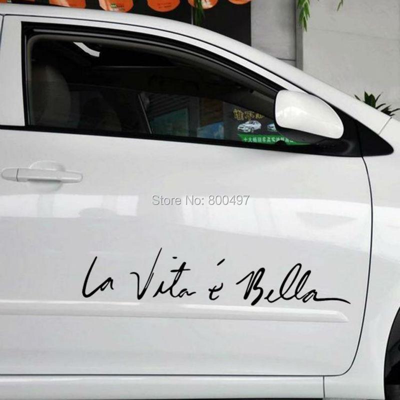 Funny Sticker Life Is So Beautiful La Vie Est Si Belle Car Sticker Auto Decal Car Accessories for Tesla Bentley Jaguar Volvo sticker