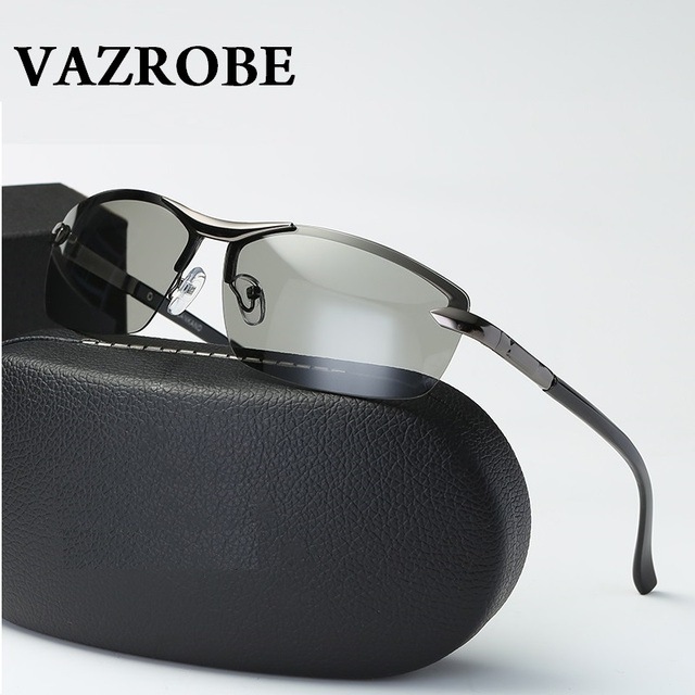 Vazrobe Marca (10 s Mudar de Cor) Fotocromáticas Óculos De Sol Polarizados  Homens Camaleão 4b142fba83