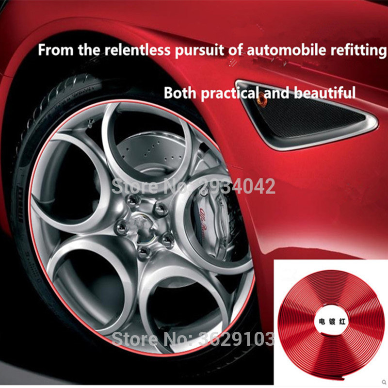 8m car-styling upgrade plating contour decorative adhesive paste accessories for Toyota corolla rav4 camry prius hilux avensis