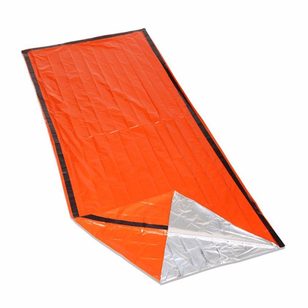 Blanket Camping Mat Cold-proof Lightweight Reusable Thermal Orange Practical