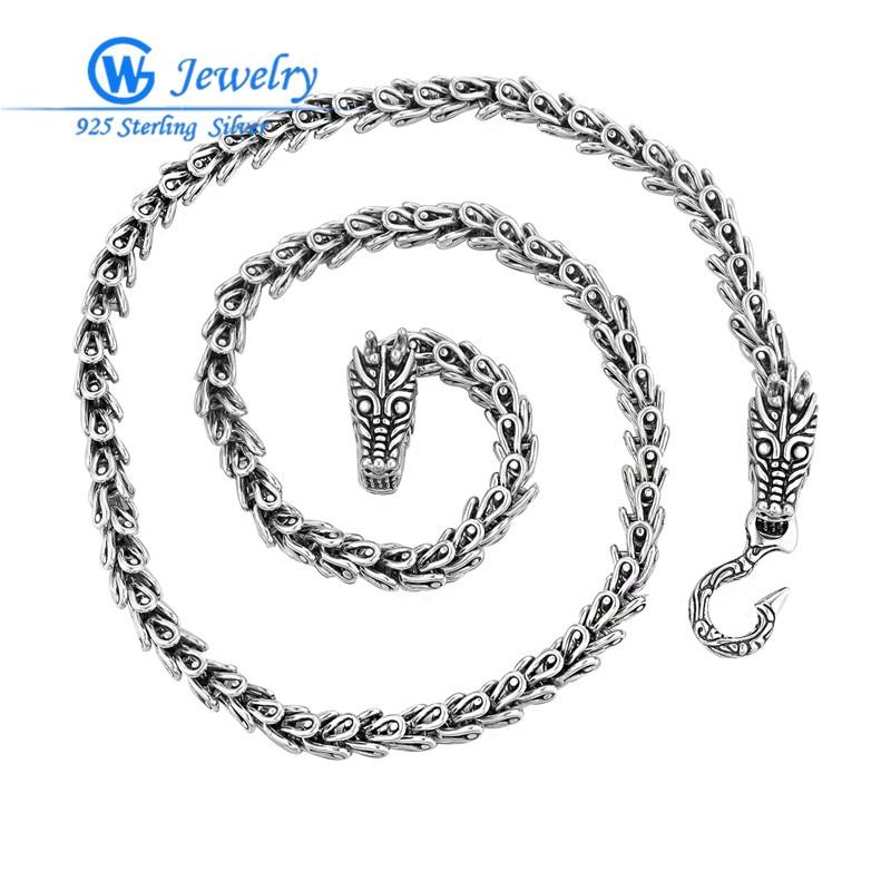 Bijoux fantaisie haute qualité 55 CM déclaration collier et chaîne diamètre 7mm fermoir 19.8*10.21*4.1mm bijoux style XLT002H20