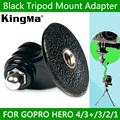 KingMa Black hero4 3 SJ4000 Tripod Mount gopro monopod Adapter accessories for camera go pro hero 4 3 2 1 free shipping