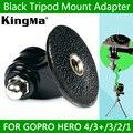 Kingma preto hero4 3 sj4000 tripé monopé adaptador de montagem gopro acessórios para câmera go pro hero 4 3 2 1 frete grátis