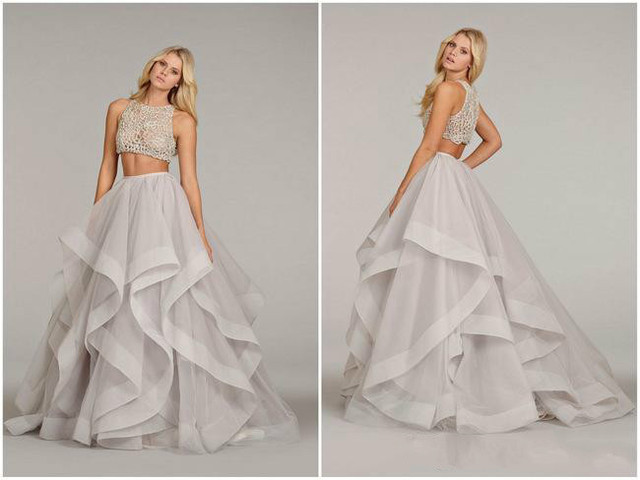 DAP3168 Two Piece Prom Dress See Through Corset Prom Gown Sheer ...