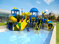 CE certified Water Park outdoor slide playground , swiming pool outdoor play facilities CIT-16178C