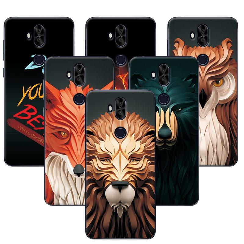 Coque For Asus Zenfone 5 Lite ZC600KL Case Cover Attractive Lion fox Painting Back Protector For Zenfone 5 Lite ZC600KL 6.0