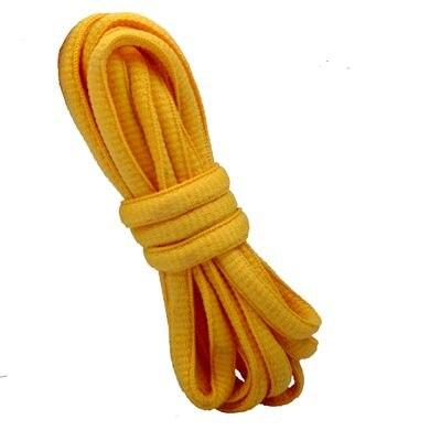 """100 см/3"""" овальные плоские шнурки Шнурки кроссовок 24 цветов для выбора - Цвет: No 7 golden"""