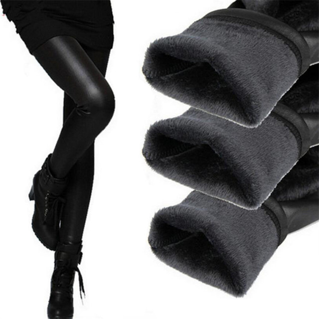 Новые 2018 загустители черные кожаные сапоги Леггинсы для женщин Узкие брюки зимние теплые Для женщин Мотобрюки зима Брюки для девочек для Для женщин высокое качество