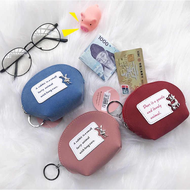 2019 Moda cor sólida pacote mulheres mudança coin purse mini bolsa saco pacote de armazenamento bonito hearphone