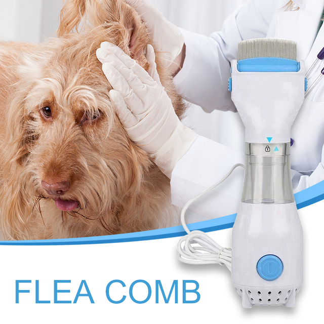 Household Electric Flea Comb Puppies Fleas Treatment Safe Plastic Pets Kill for Dogs Cats Pet Supplies Comb EU 220V Wholesale