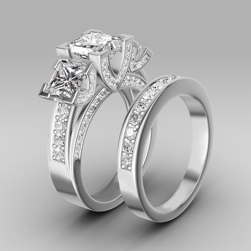Online Get Cheap Wedding Rings Set Aliexpresscom Alibaba Group