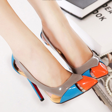 2016 New Spring Fall Pointed Toe Red Bottom Wedding Pumps For font b Women b font