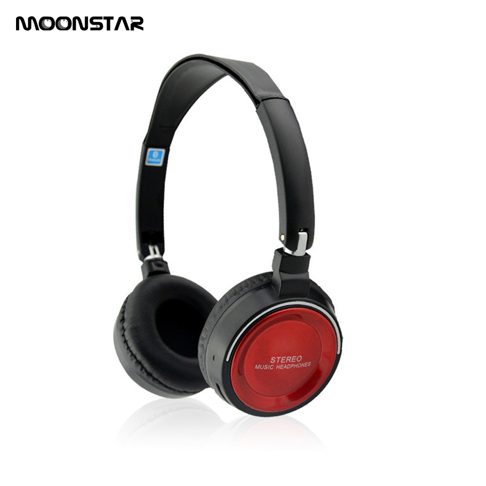 MOONSTAR Wireless Bluetooth headphones wireless headset with Microphone FM radio TF card for Mobile Phone music earphone magift bluetooth headphones wireless wired headset with microphone for sports mobile phone laptop free russia local delivery hot