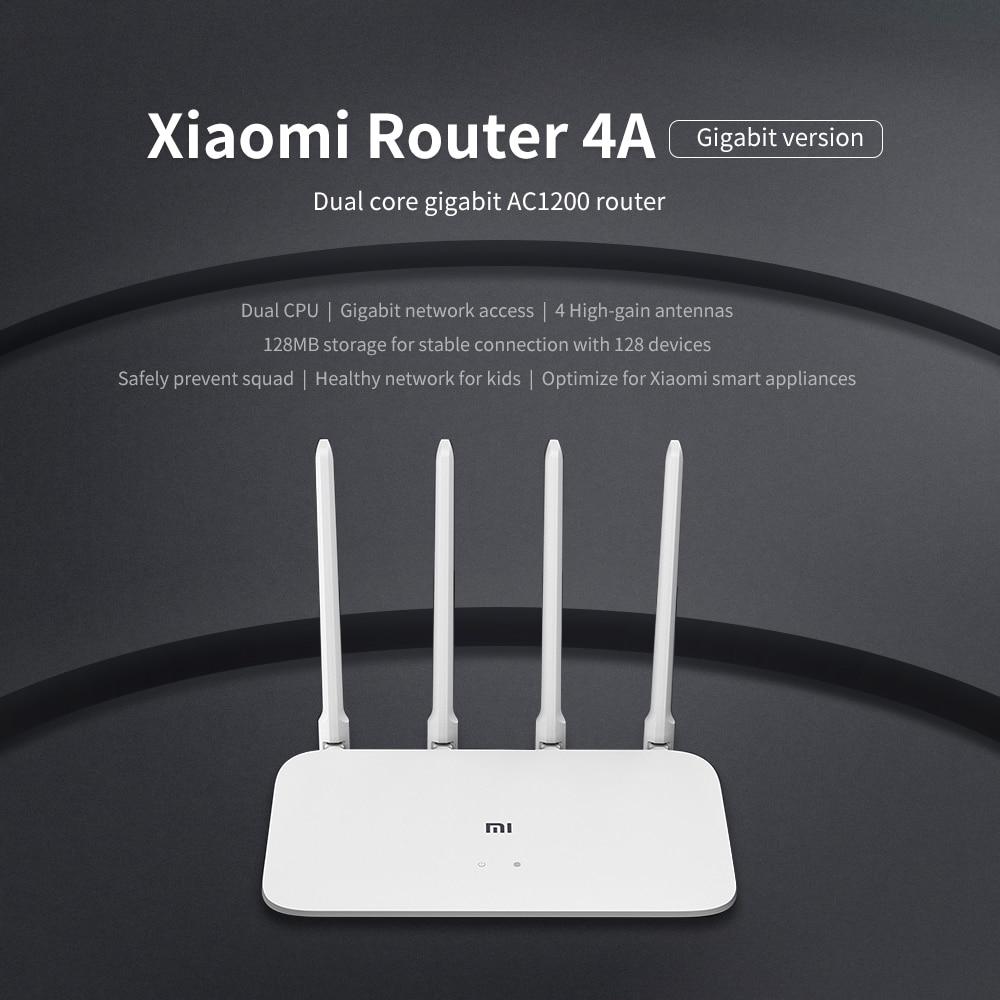Image 4 - Global version Xiaomi Mi 4A Router Gigabit edition 2.4GHz +5GHz WiFi 16MB ROM + 128MB DDR3 High Gain 4 Antenna APP Control  IPv6