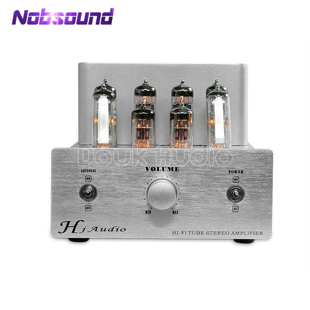 Nobsound Latest 6P14 / EL84 Valve Push-Pull Tube Amplifier HiFi Stereo Class AB Integrated Audio Power Amplifier music hall latest muzishare x7 push pull stereo kt88 valve tube integrated amplifier phono preamp 45w 2 power amp