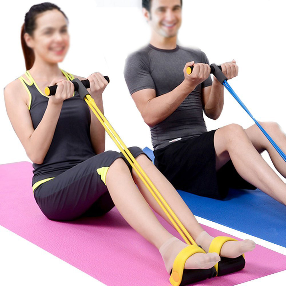4 Tube Resistance Bands Fitness Equipment Yoga Workout