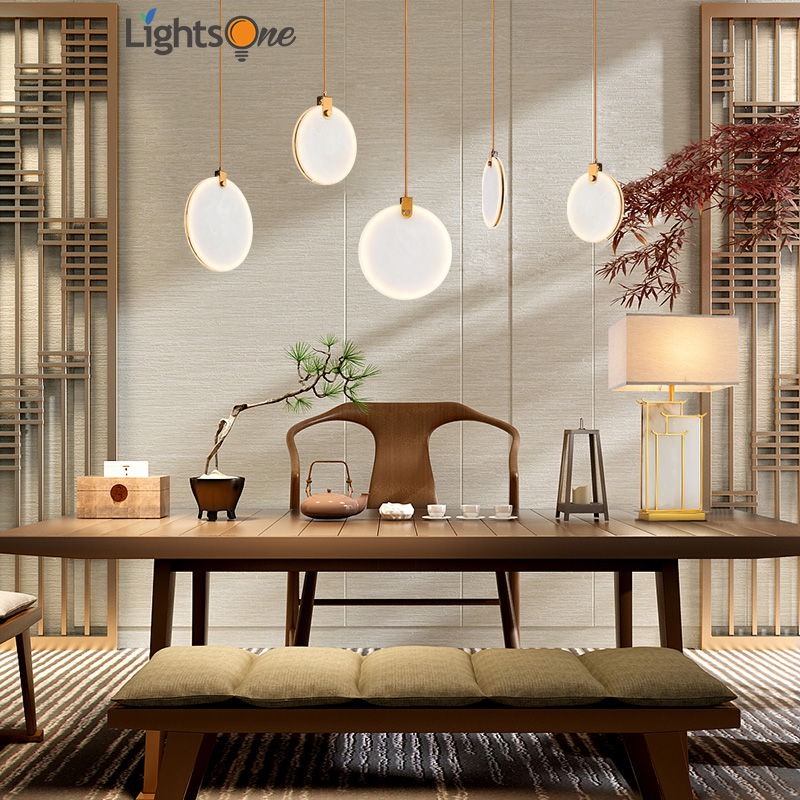 Modern creative cafe clothing store pendant light restaurant bar bedroom imitation marble small decoration pendant lamp