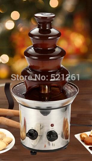 JIQI Chocolate Fountain Fondue Event Wedding Children Birthday Festive & Party Supplies Christmas Waterfall Machine kitchen