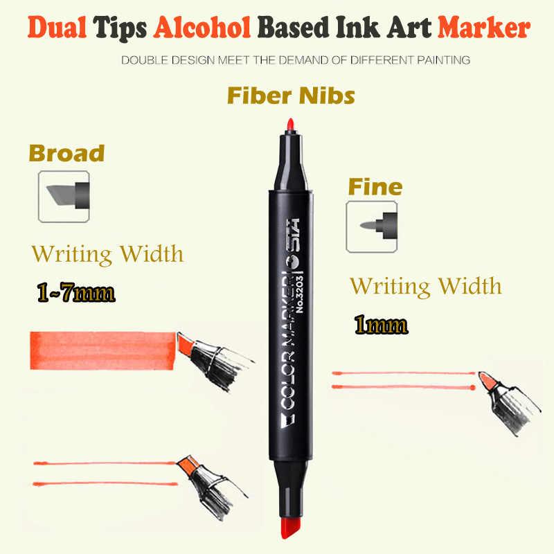 STA alcool double Art marqueurs Anime/Architecture/vêtements/paysage/Design d'intérieur Pro marqueur graphique écriture stylos à dessin
