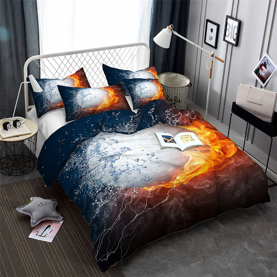 3d bedding set design duvet cover sets king queen twin size dropshipping ball game boy gife on. Black Bedroom Furniture Sets. Home Design Ideas