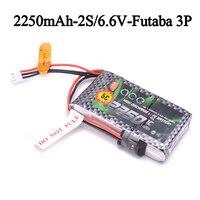 Pacote da bateria da vida de ace 2250 mah 6.6 v 2s1p dos gens com plugue de bbl1 3 p para o controle remoto de 14sg 4pls t8j|Peças e Acessórios| |  -