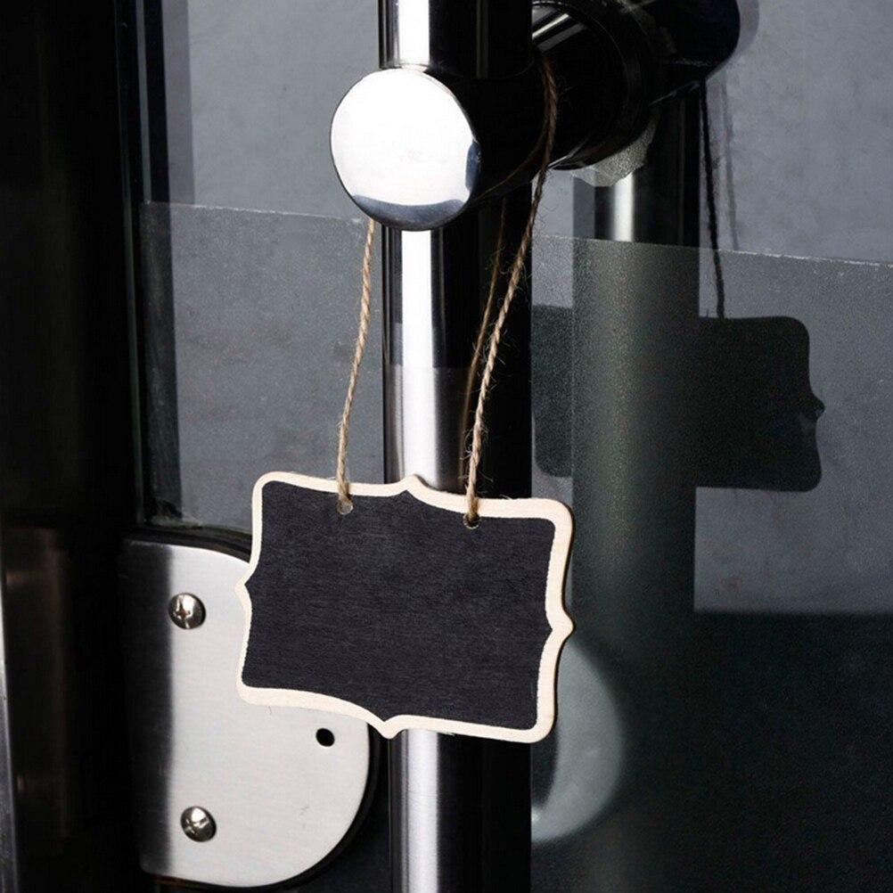 Peerless 1PC Wooden Blackboard Message Board Rectangle Heart Shaped HangingChalkboard Wordpad