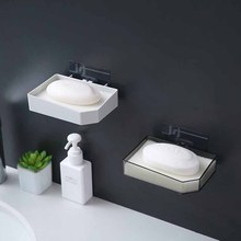 Simple Drainage soap rack Soap Box Bathroom Accessories Dish Suction Holder Storage Basket Stand