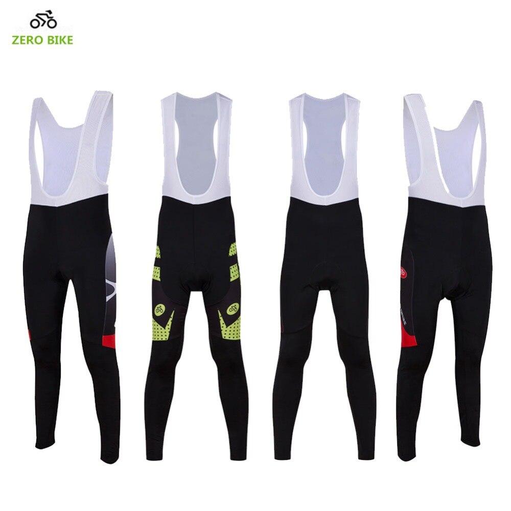 ZEROBIKE 2017 Jaro Podzim Pánské Cyklistické kalhoty Bib 3D Gel Polstrovaný Outdoor Sport Cyklistické oblečení ciclismo