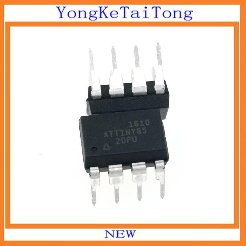 1PCS NEW ATTINY85-20PU ATTINY85-20 ATTINY85 Microcontroller IC MCU 8BIT 8KB FLASH 8DIP