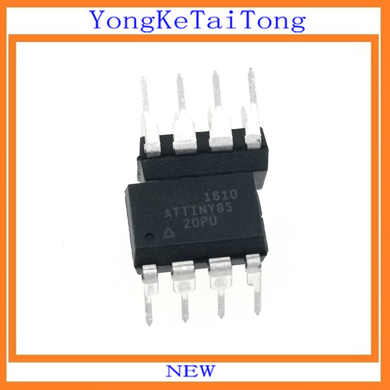 5PCS NEUE ATTINY85-20PU ATTINY85-20 ATTINY85 Mikrocontroller IC MCU 8BIT 8KB FLASH 8DIP