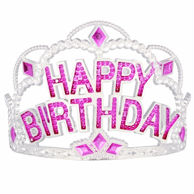 12pcs/lot Shiny Happy Birthday Princess Tiara Crown