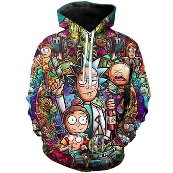Rick and Morty - Full 3d Print Hoodie
