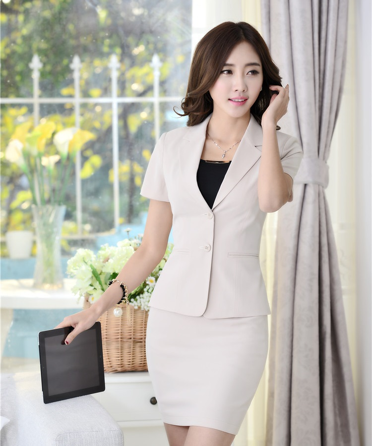 Buy Formal Ladies Blazer Women Suit With Skirt And Jacket Sets Fashion Beauty