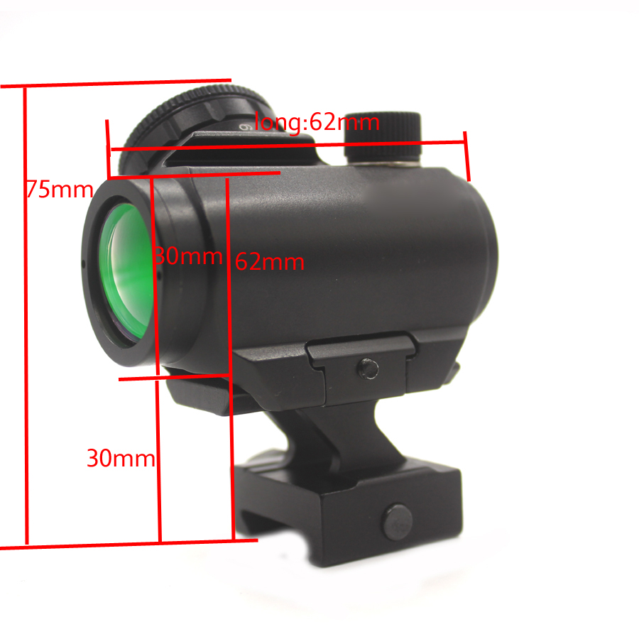 Red Dot Sight 1X20 Sights Reflex With 20mm Rail Mount Optics Red point For Hunting Tactical Scopes-T1C122 бордюр atlas concorde admiration crema marfil spigolo 1x20