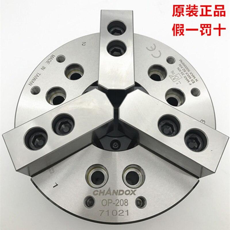 Chandox idraulico mandrino hollow 3 jaw chuck pressione olio chuck op-210 cnc tornio macchina