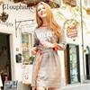 Glouphant Fashion Basic Cotton Casual Letter Ladies Plaid Dress Autumn Belt Pullover Woman Dress 2017 Midi