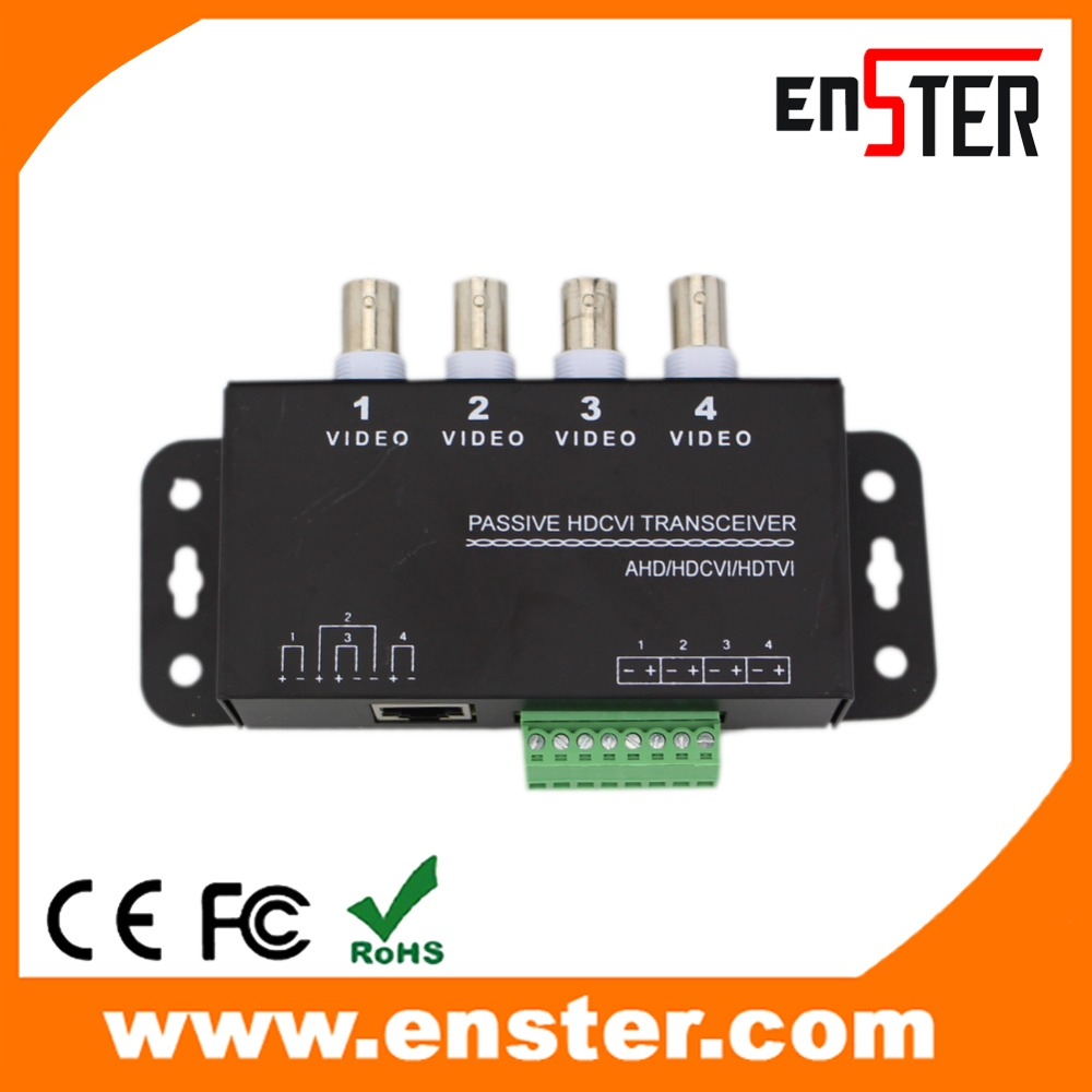 4CH Passive HD Transceiver Receiver Real time transmission RJ45 CCTV Accessories UTP Video Balun For HDCVI