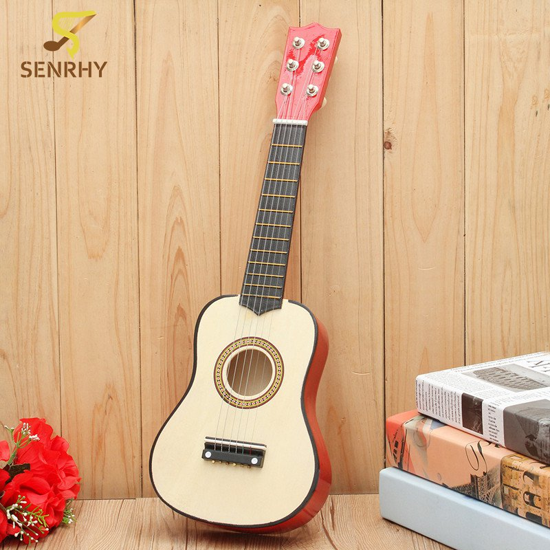 21 inch 6 string plywood beginners practice acoustic guitar with pick for kids children stringed. Black Bedroom Furniture Sets. Home Design Ideas