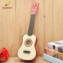 21 Inch 6 String Plywood Beginners Practice Acoustic Guitar with Pick For Kids Children Stringed Musical Instruments Gift