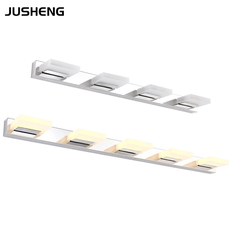 Modern Fashion Wall Lights High Grade Stainless Steel Led Mirror Lamps in Bathroom Indoor Lighting fixtures
