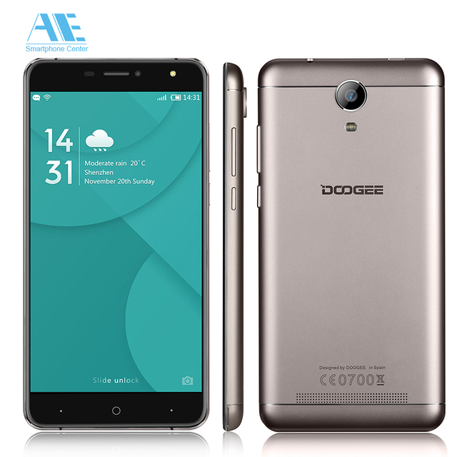 Original DOOGEE X7 Pro MT6737 Quad core Android 6.0 Smartphone 6.0'' 1280x720 Cellphone 2G RAM 16G ROM 3700mAh 4G Mobile Phone